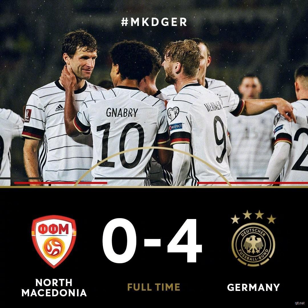 北马其顿0-4德国