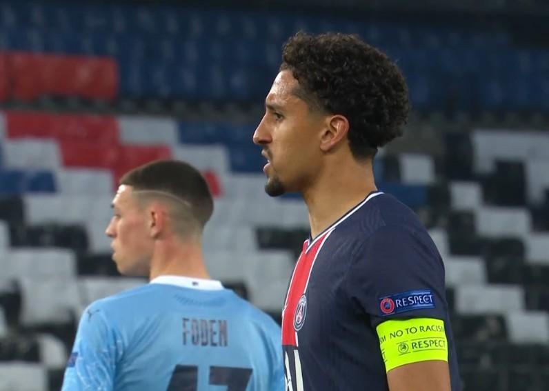 中场歇息-马尔乔诺斯头球攻门 福登在巴黎1-0曼城错失良机