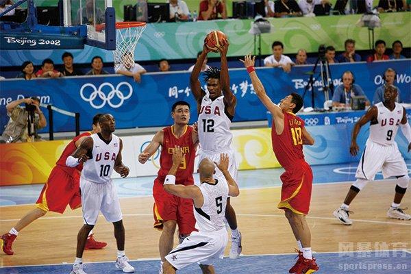 08年中国男篮VS美国队 中国男篮VS美国梦八队