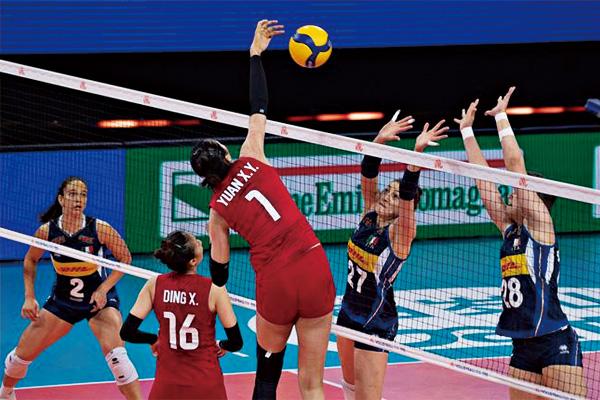 中国女排3:0击败意大利!朱婷女排女孩保持冲击前四的希望