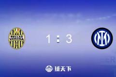 意甲国际米兰3-1逆转维罗纳迎两连胜 劳塔罗头槌科雷亚双响+绝杀