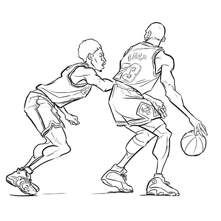 詹姆斯乔丹科比哈登领衔 NBA球星超燃漫画