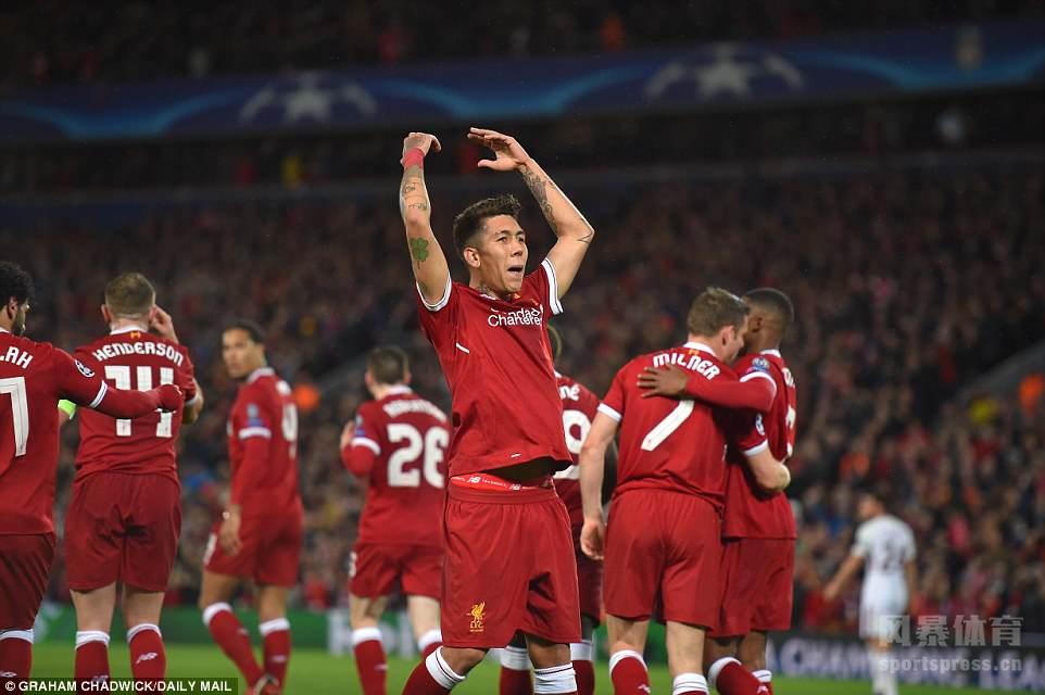 欧冠半决赛:萨拉赫2球2助破旧主 利物浦5-2罗马