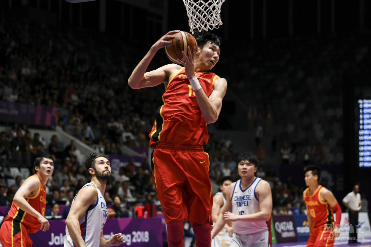 2018雅加达亚运会男篮半决赛:中国86-63中国台北