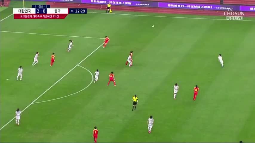 扳回一球!韩国解说中国女足进球