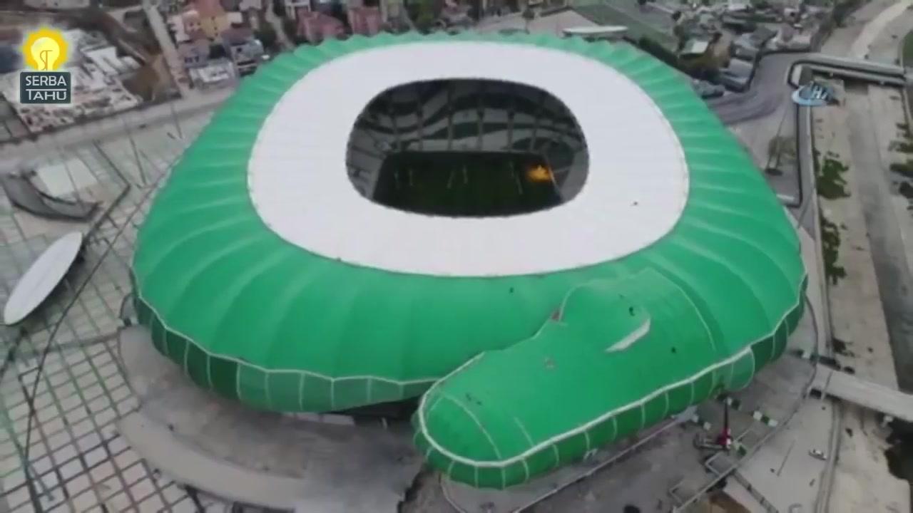 """球场长了鳄鱼头?土耳其布尔萨运动""""绿鳄球场"""""""