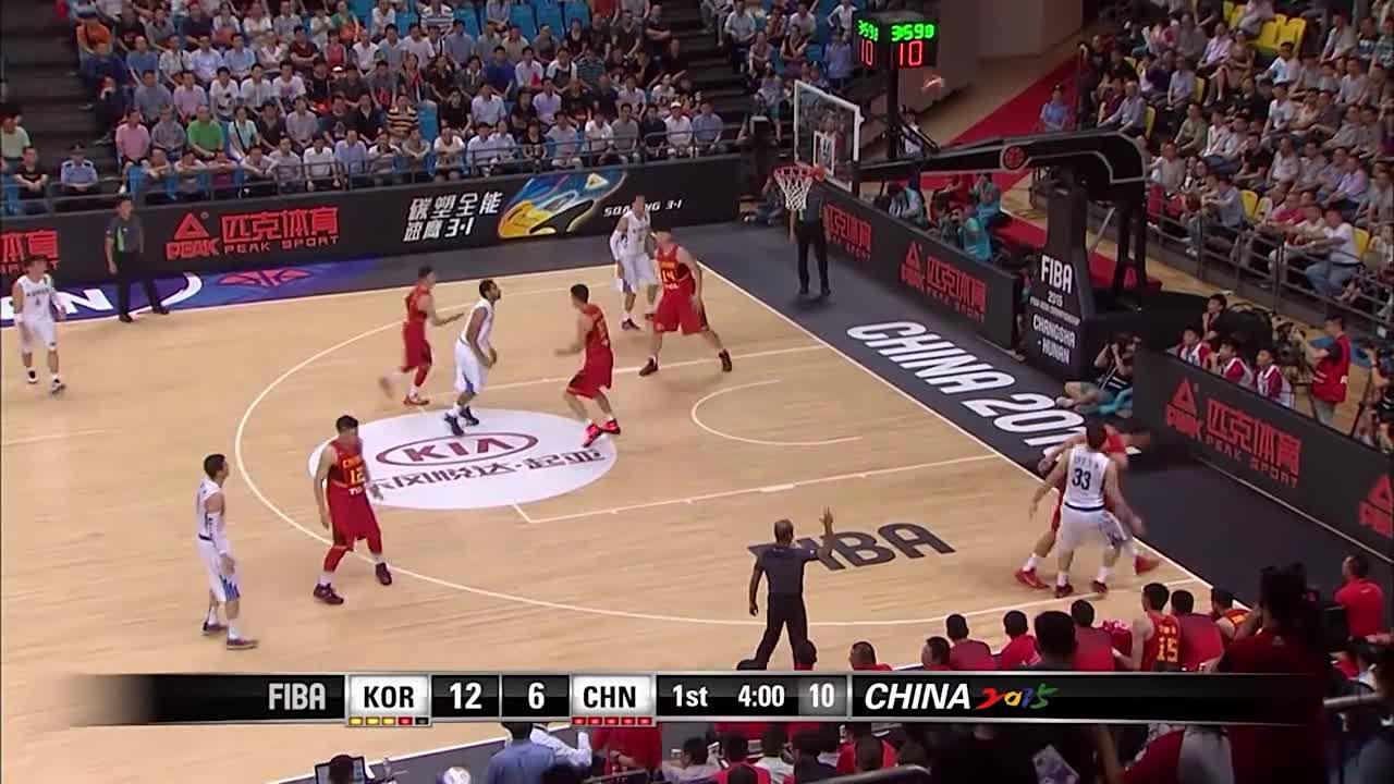 经典赛事!2015年男篮亚锦赛中国20分逆转韩国