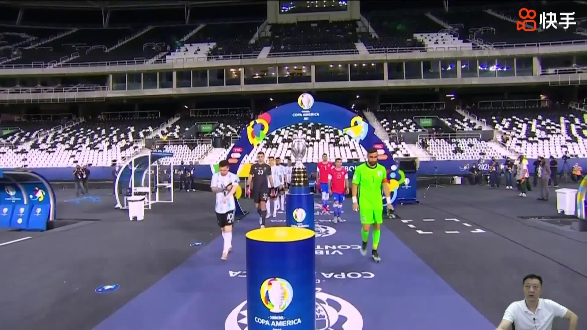 【快手集锦】美洲杯-梅西任意球破门巴尔加斯建功 阿根廷1-1智利