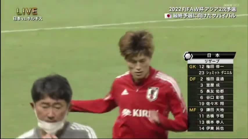 【集锦】世预赛-阿道6分钟戴帽 日本5-1吉尔吉斯斯坦全胜晋级