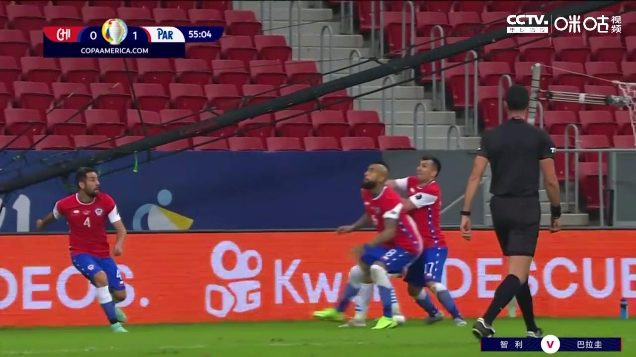 【咪咕集锦】美洲杯-阿尔米隆传射 巴拉圭2-0力克智利
