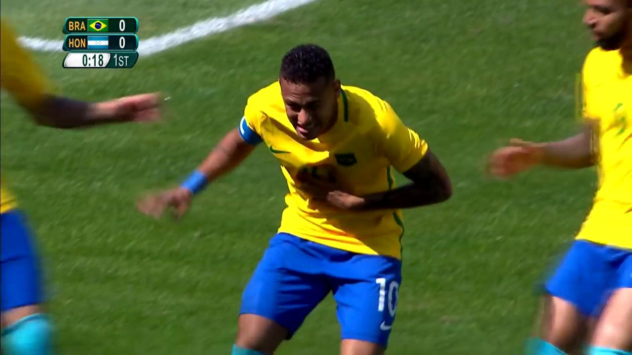 进球只需14秒!奥运足球赛场上最快的男人——内马尔!