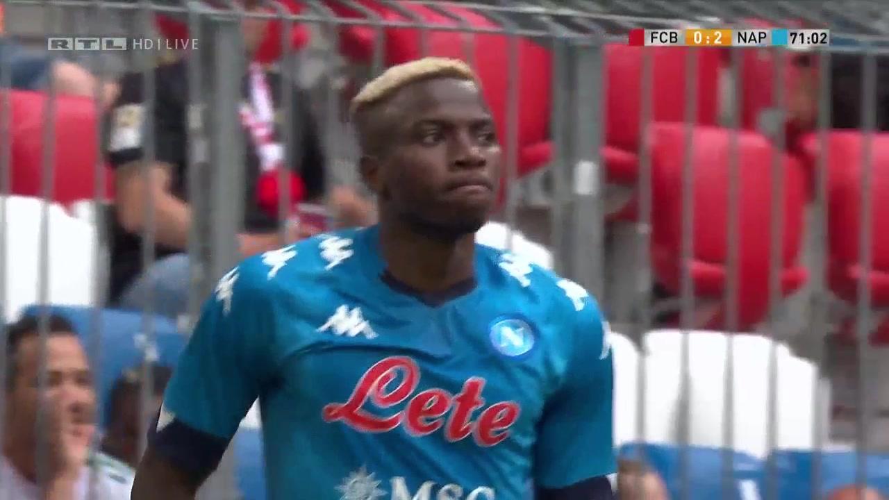 【全场集锦】热身赛-奥斯梅恩2分钟2球科曼伤退 拜仁0-3那不勒斯