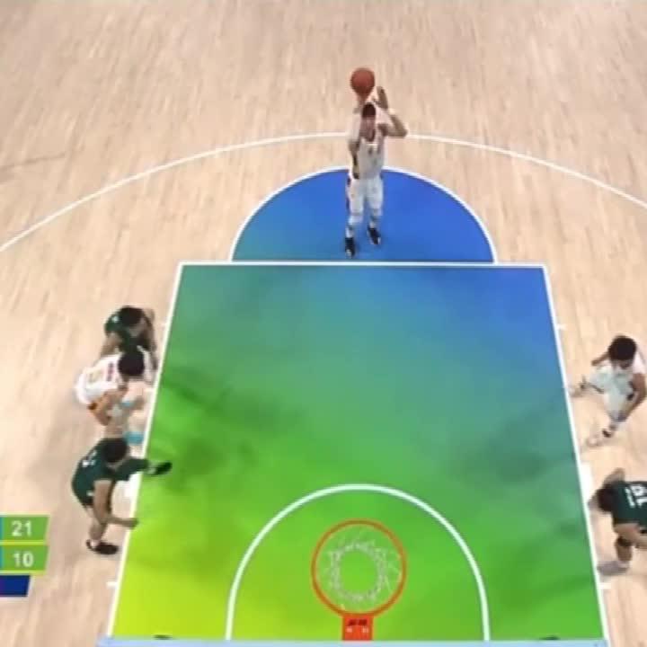 全运会-周琦罚球怒刷2篮板 2+1变成2+2