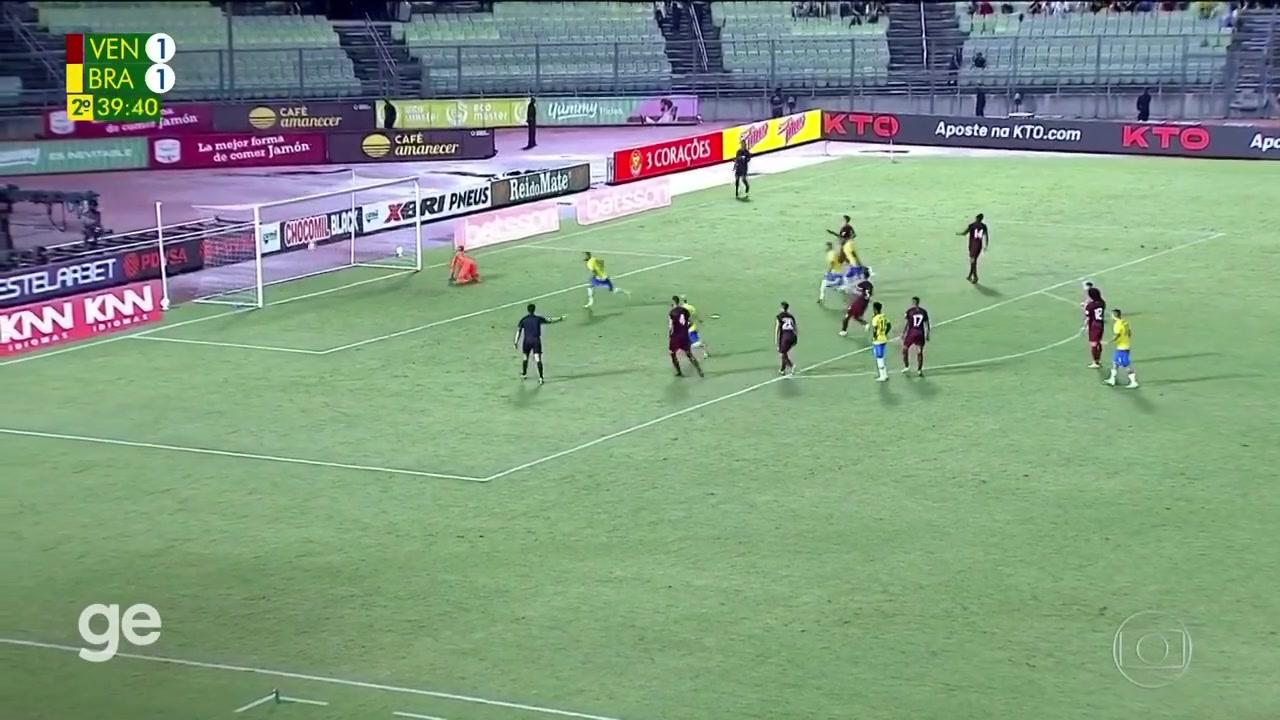 【集锦】世预赛-巴黎队长扳平加比球点射 巴西3-1委内瑞拉