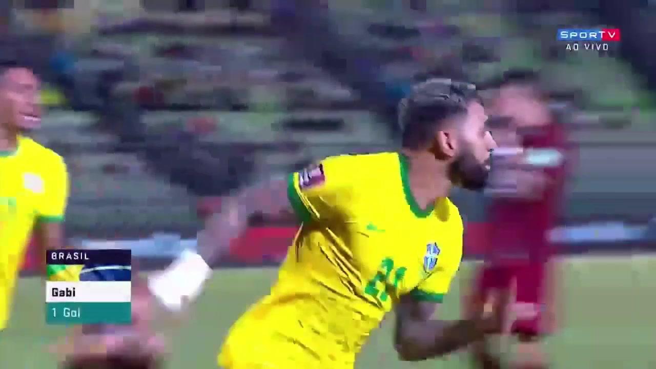 加比球造点亲自主罚破门 巴西2-1反超委内瑞拉