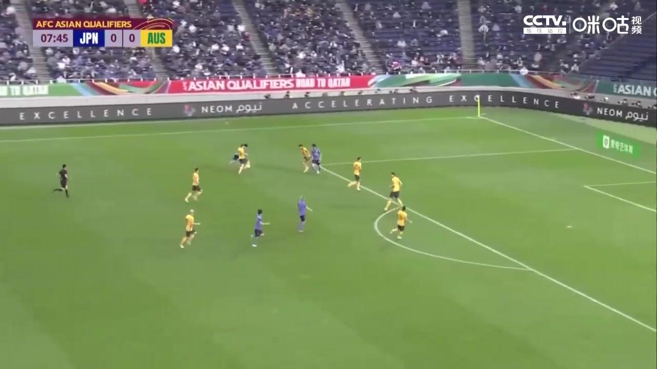 12强赛-田中碧闪击浅野拓磨造乌龙 日本2-1绝杀澳大利亚