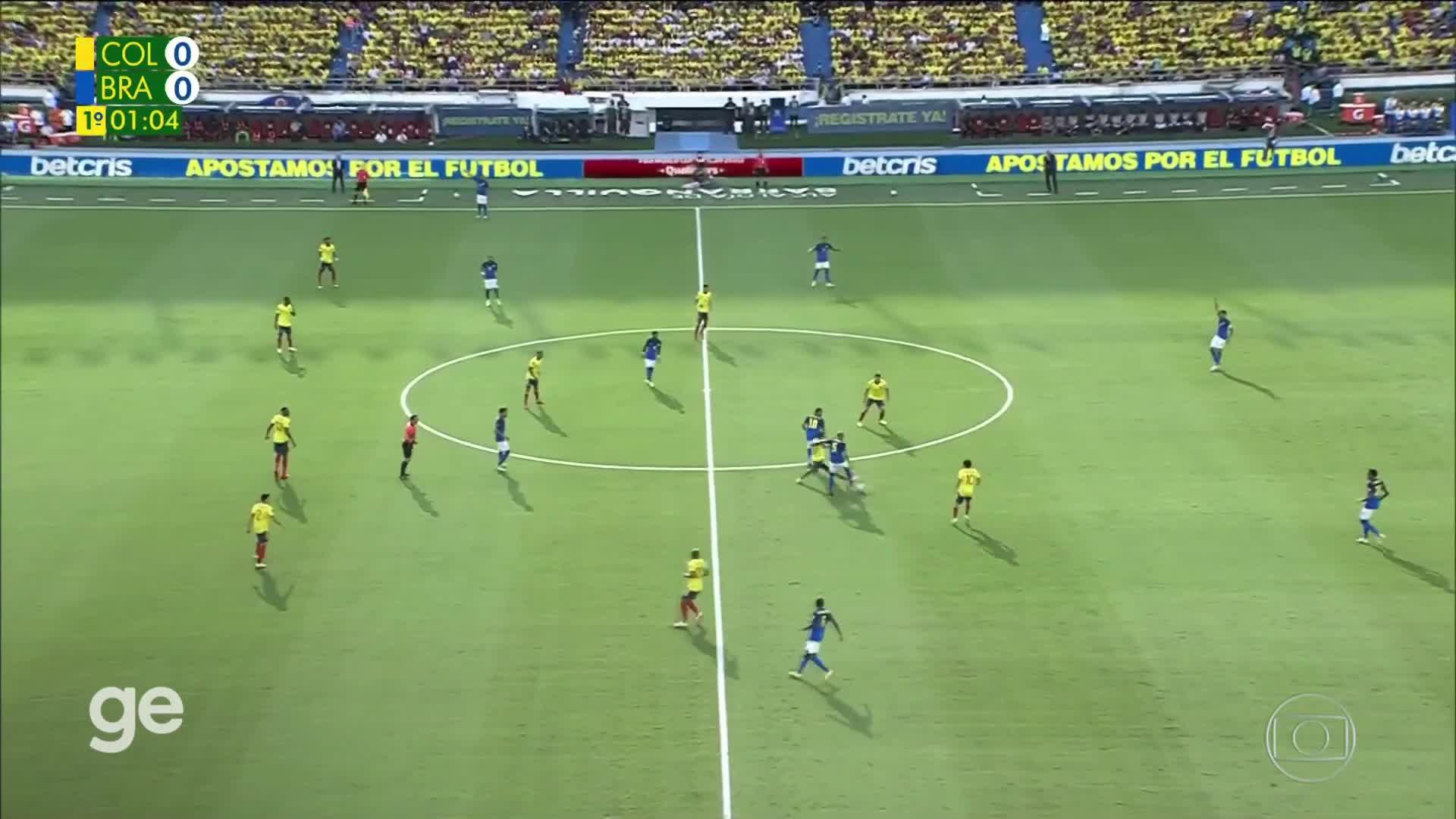 【集锦】世预赛-帕奎塔失单刀 巴西0-0哥伦比亚九连胜遭终结