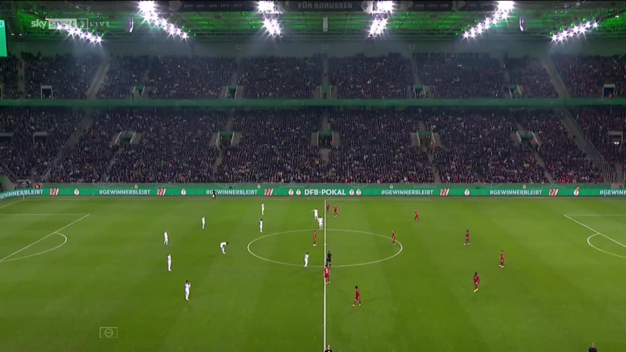 【集锦】德国杯-恩博洛两射一传 拜仁0-5惨败门兴出局