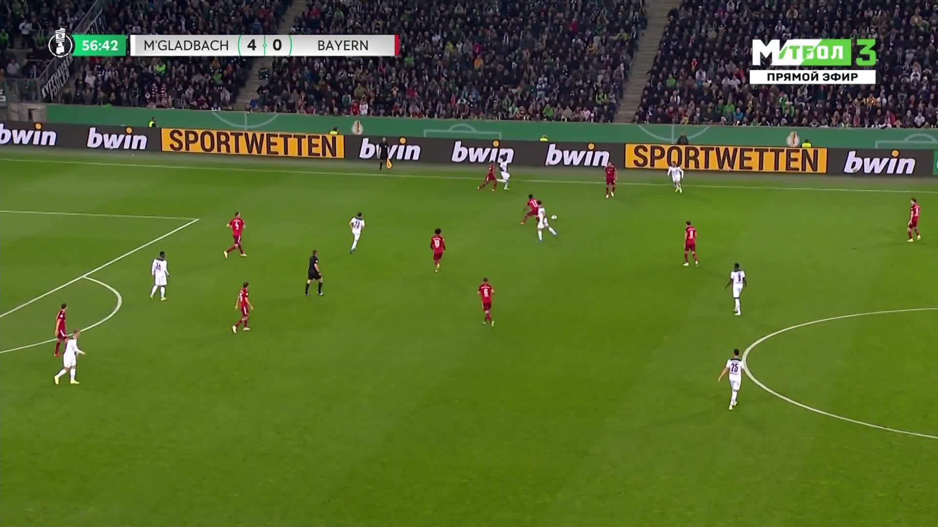 惨案!拜仁0-5落后门兴 恩博洛破门梅开二度