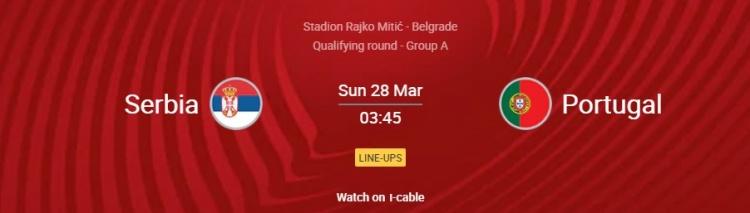 葡萄牙vs塞尔维亚首发:c罗 约塔首发 B费B席登场