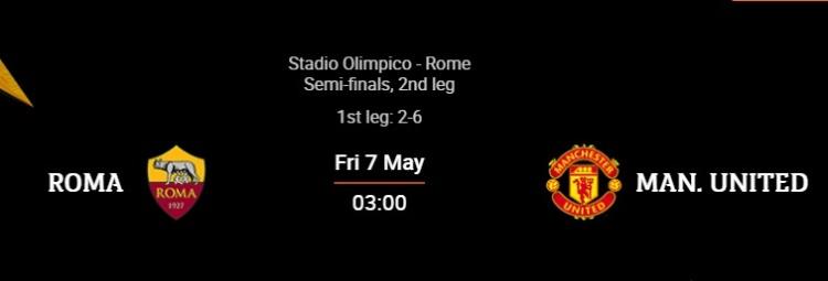 曼联vs罗马首发:B费 博格巴 卡瓦尼首发;哲科和mkhitaryan演奏了