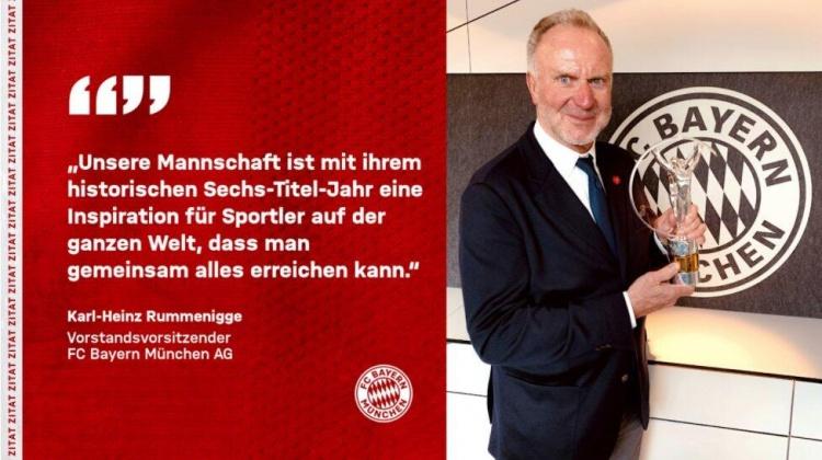 鲁梅尼格谈到拜仁的奖项:我们有俱乐部历史上最成功的一年