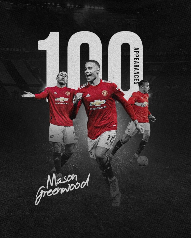格林伍德迎来了曼联一线队的一百个里程碑 也是队列历史上第三年轻的