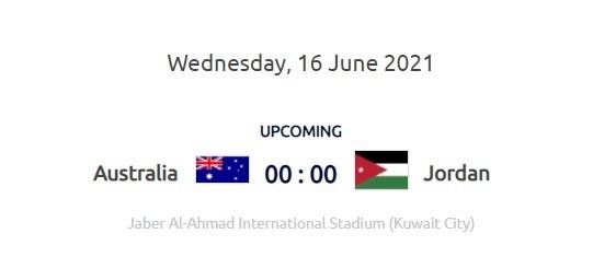 澳大利亚对约旦在0: 00 并可能在国家足球比赛前提前出线
