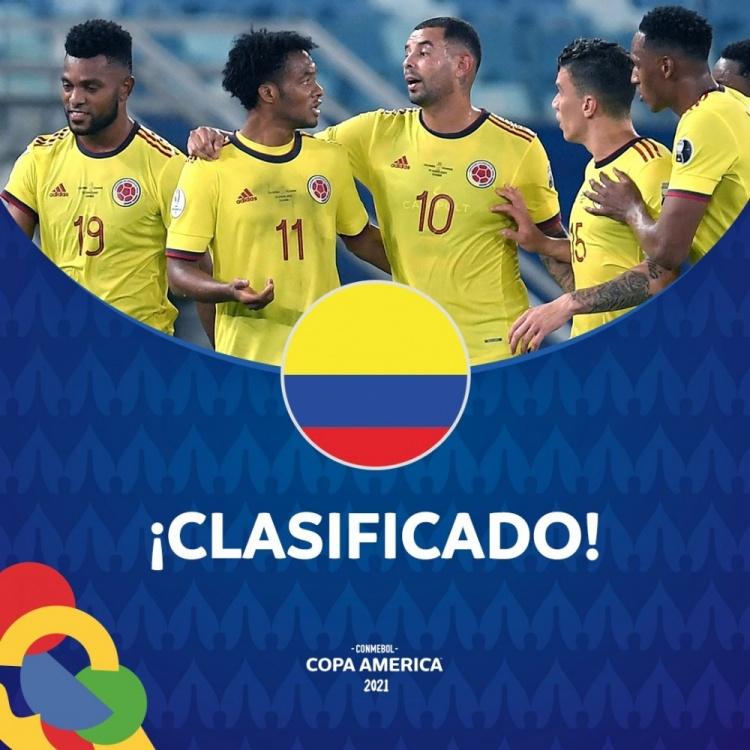 虽然输给了巴西 但哥伦比亚已经成为美洲杯B组的第二支消费球队