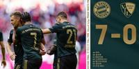 德甲拜仁7-0波鸿:莱万进球创纪录
