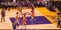 NBA常规赛湖人105-115不敌太阳 湖