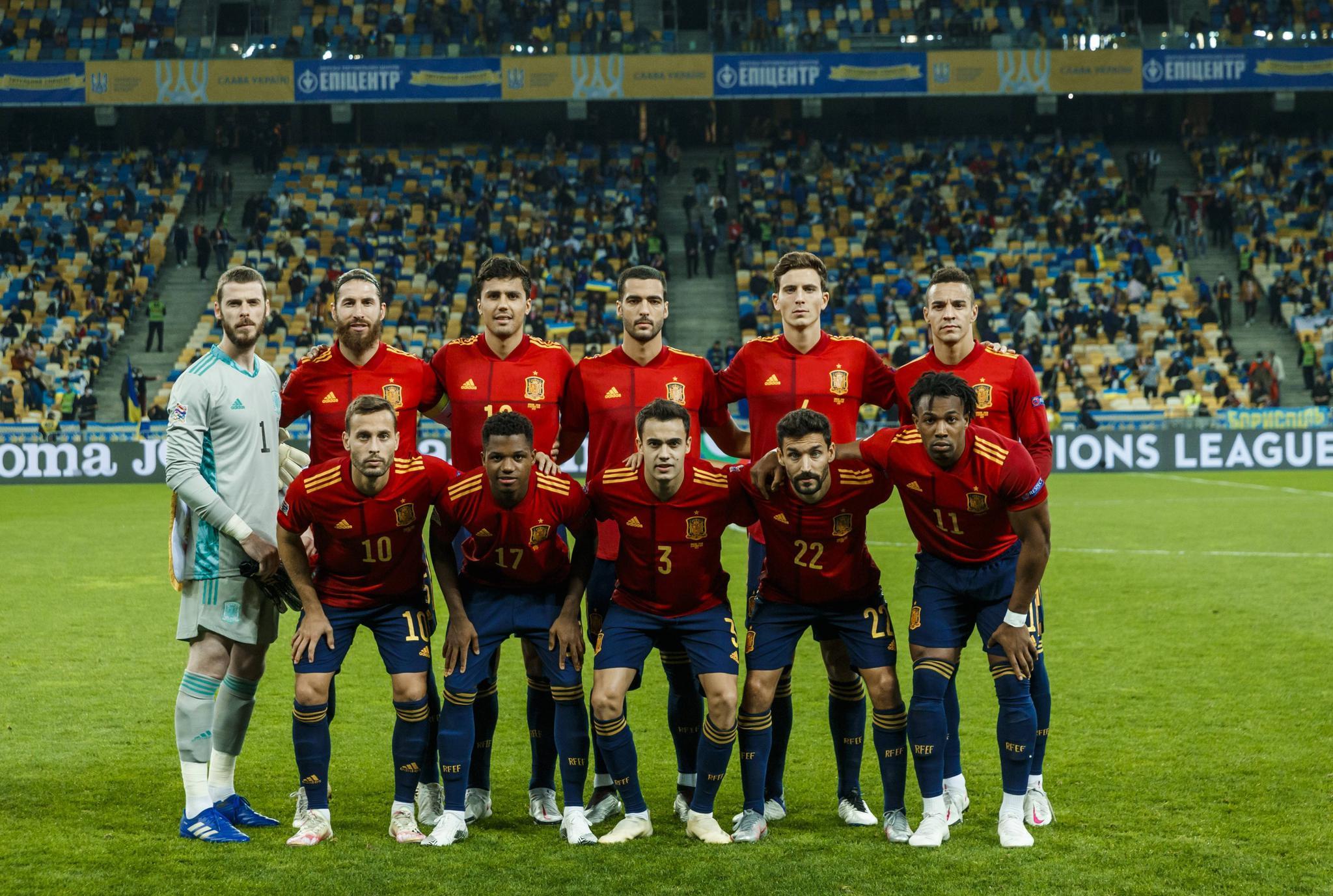 欧国联第四轮西班牙客场0:1不敌乌克兰,西班牙暂列小组第一名