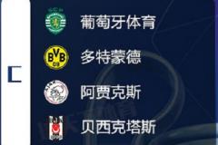 多特蒙德欧冠赛程2021-2022 附欧冠C组赛程表