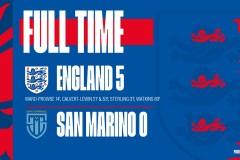 世预赛林加德助攻勒温双响斯特林破门 英格兰5-0大胜圣马力诺