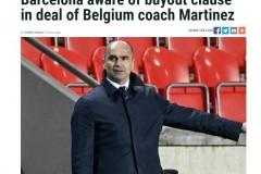 每体:马丁内斯和比利时足协的合同中有180万欧的解约条款