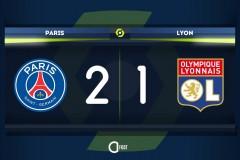 法甲巴黎圣日耳曼2-1里昂:内马尔点射破门 伊卡尔迪头球绝杀