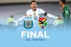 世预赛南美区战报:阿根廷3-0玻利维亚 梅西戴帽成为南美射手王