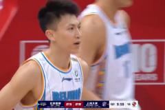 CBA常规赛北京男篮109-103战胜上海男篮 王哲林空砍27分刘晓宇24分