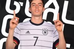 哈弗茨成为欧洲杯上最年轻的德国球员