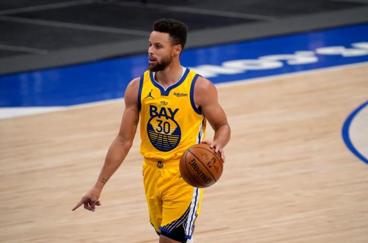 44个音符!库里创下了五场NBA5场比赛三分命中的新纪录