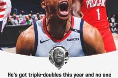 奥斯卡·罗伯特森:威少应该是上赛季的MVP 三双数据被忽略
