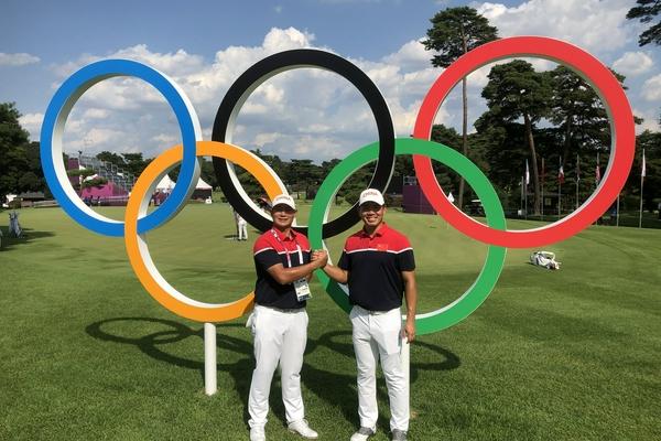 东京奥运高尔夫现场众星云集