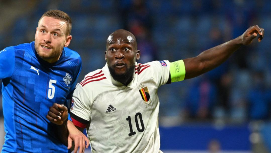 欧国联第4轮比利时客场2:1冰岛,卢卡库本场比赛攻入两球