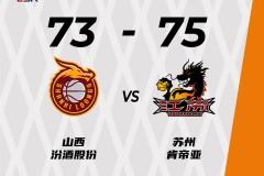 CBA季前赛:江苏75-73山西 江苏热身赛两连胜
