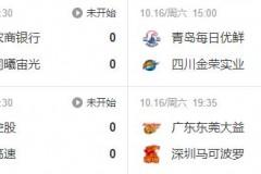 CBA开赛日 今晚七点半广东对深圳阿联强势回归