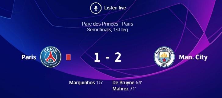 全场数据:两队11-11掉队 巴黎4-6掉队