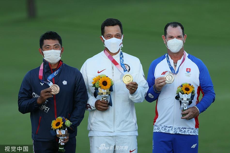 奥运男子高尔夫项目颁奖仪式