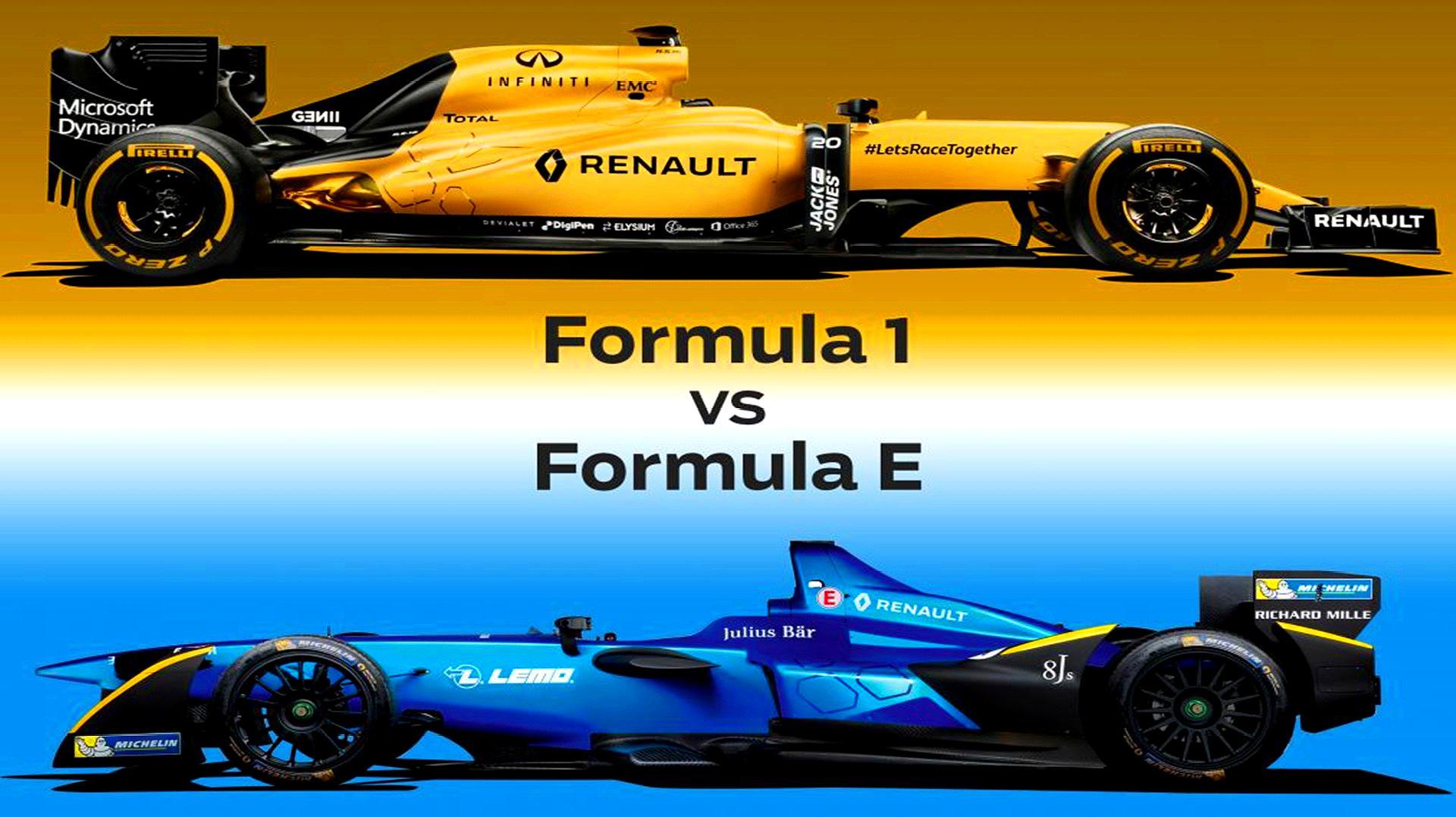 燃油赛车F1和电动赛车FE到底谁更牛?老外模拟测试,还是烧油快!