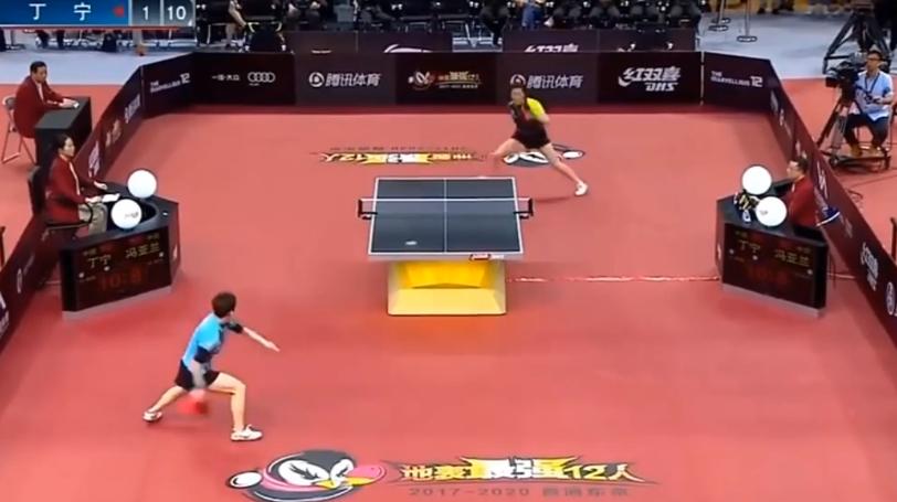 能够打出这么远的乒乓球,还能一直拿第一的,也就只有中国队了