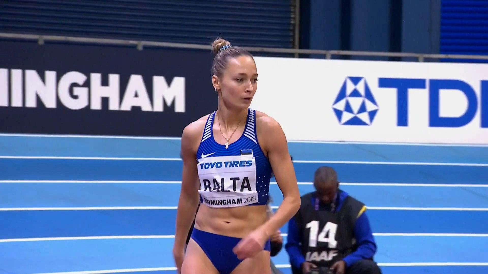 来自爱沙尼亚的田径美女,身体素质真是很棒